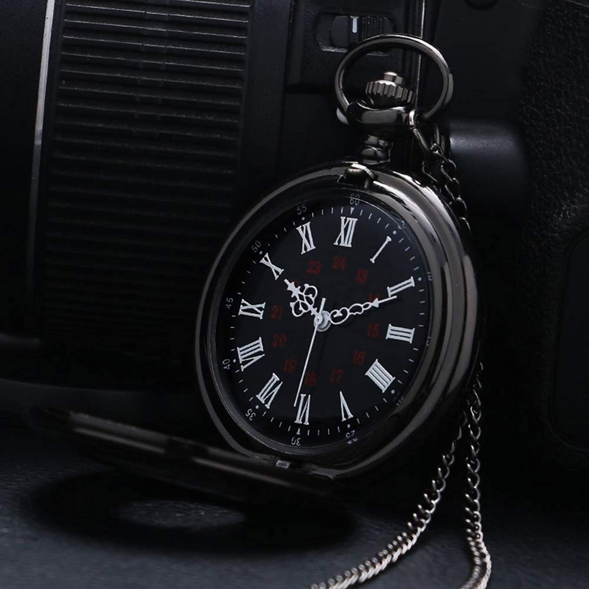 Stainless Steel Vintage Pocket Analog Watch