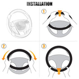 Microfiber Leather Car Steering Wheel Cover