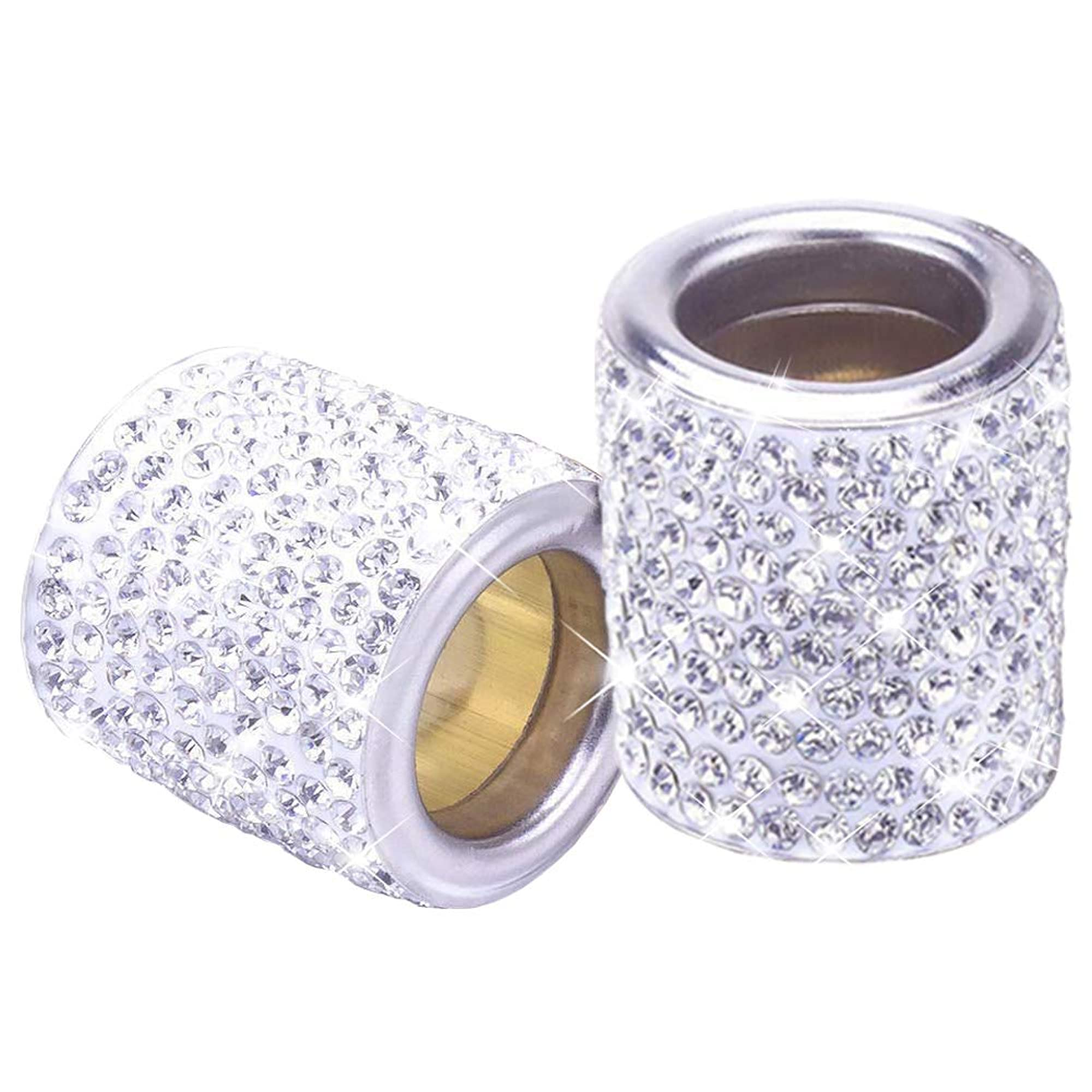 Car Headrest Crystal Collars Rings