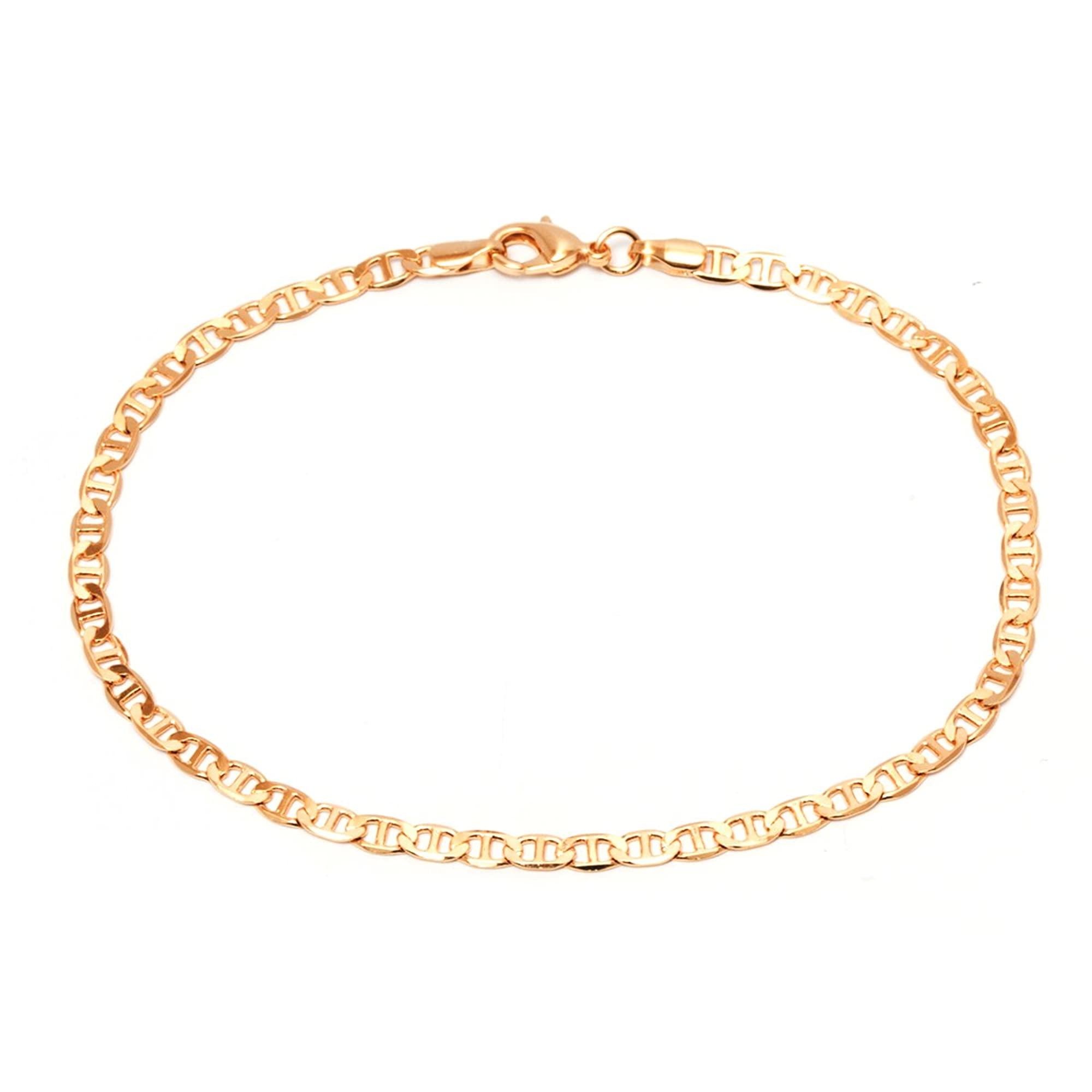 Gold Plated Link Anklet For Women