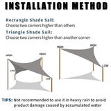 Sun Shade Sail Canopy For Outdoors