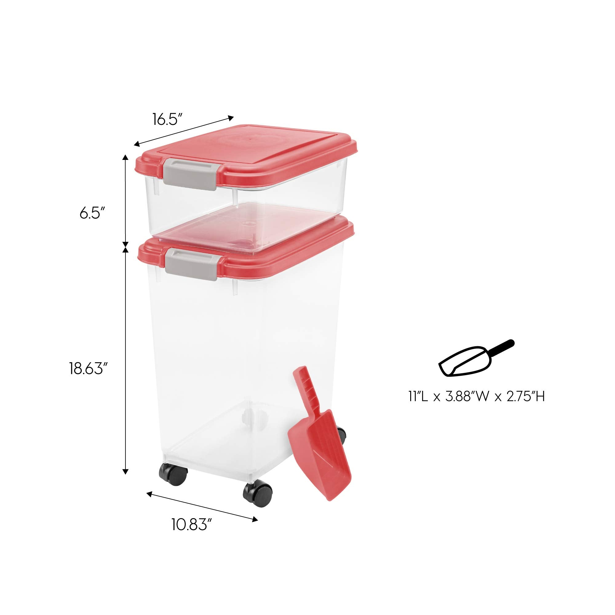 3- Piece Airtight Pet Food Storage Container Combo