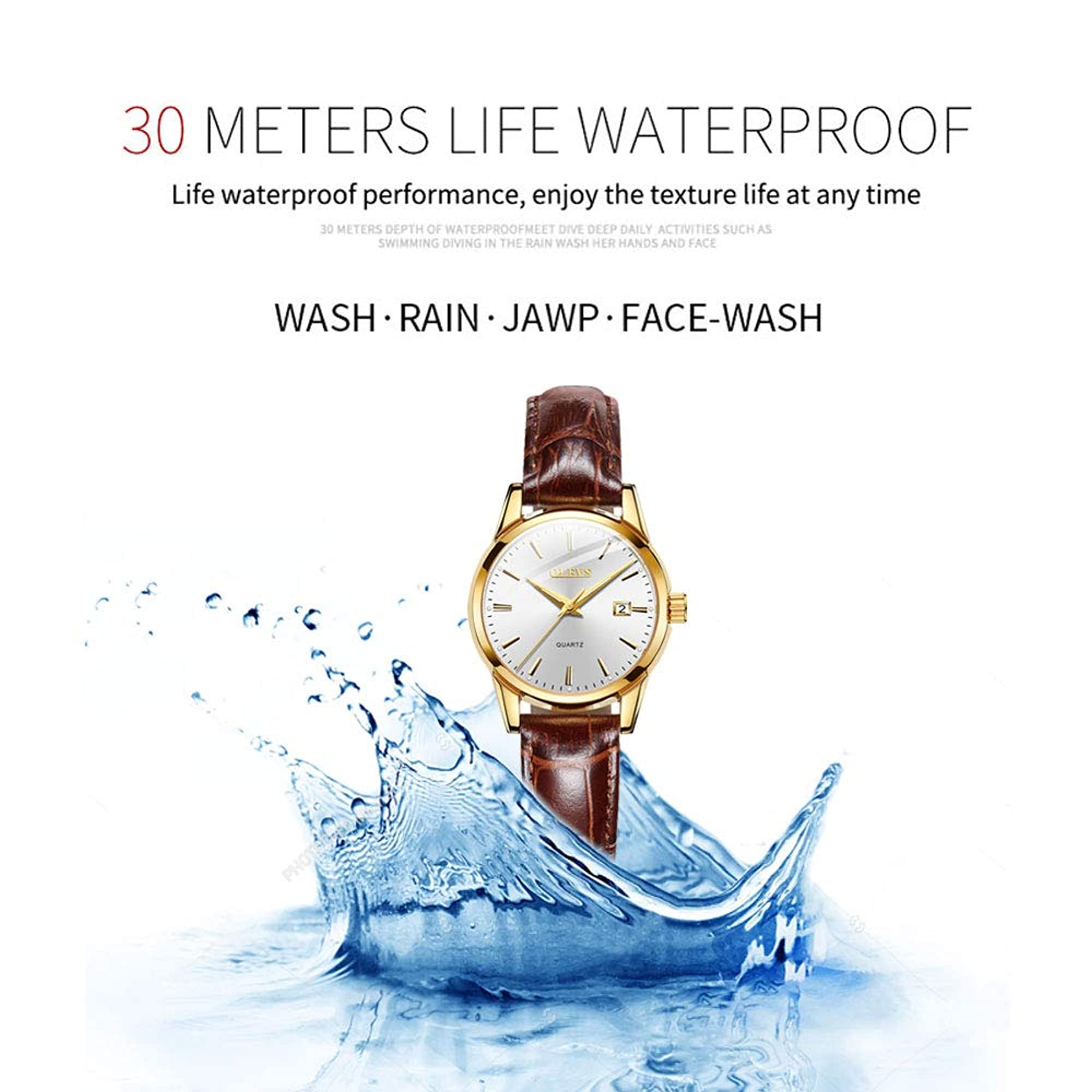 Luxury Waterproof Analog Wrist Watches