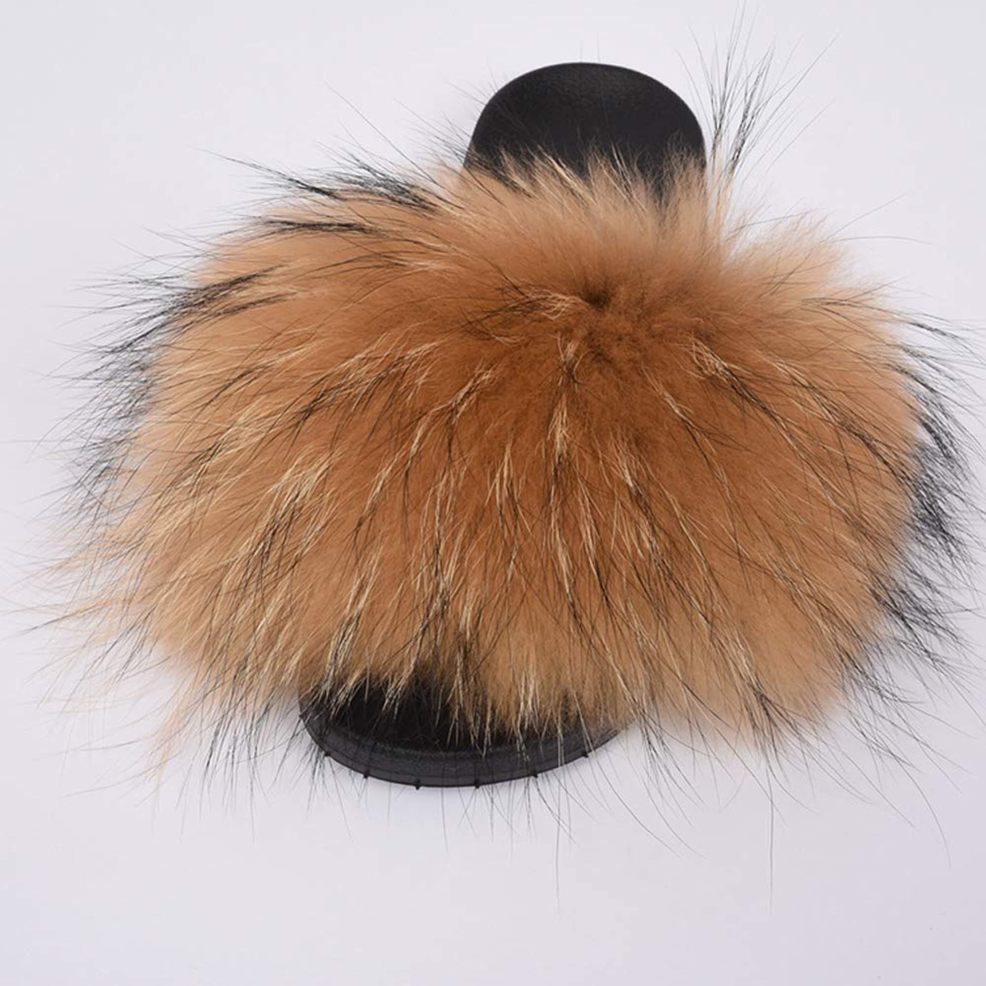 Outdoor Fluffy House Fur Slippers