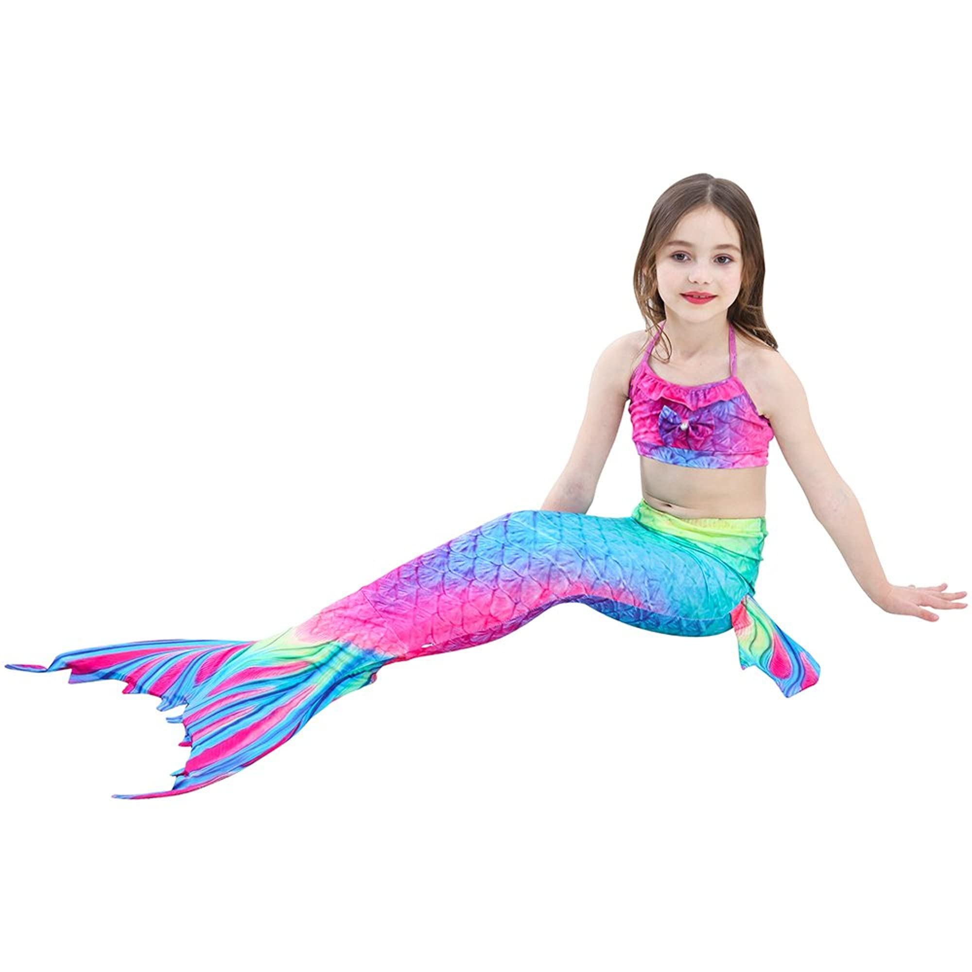 Mermaid Princess Costume Swimsuit For Girls