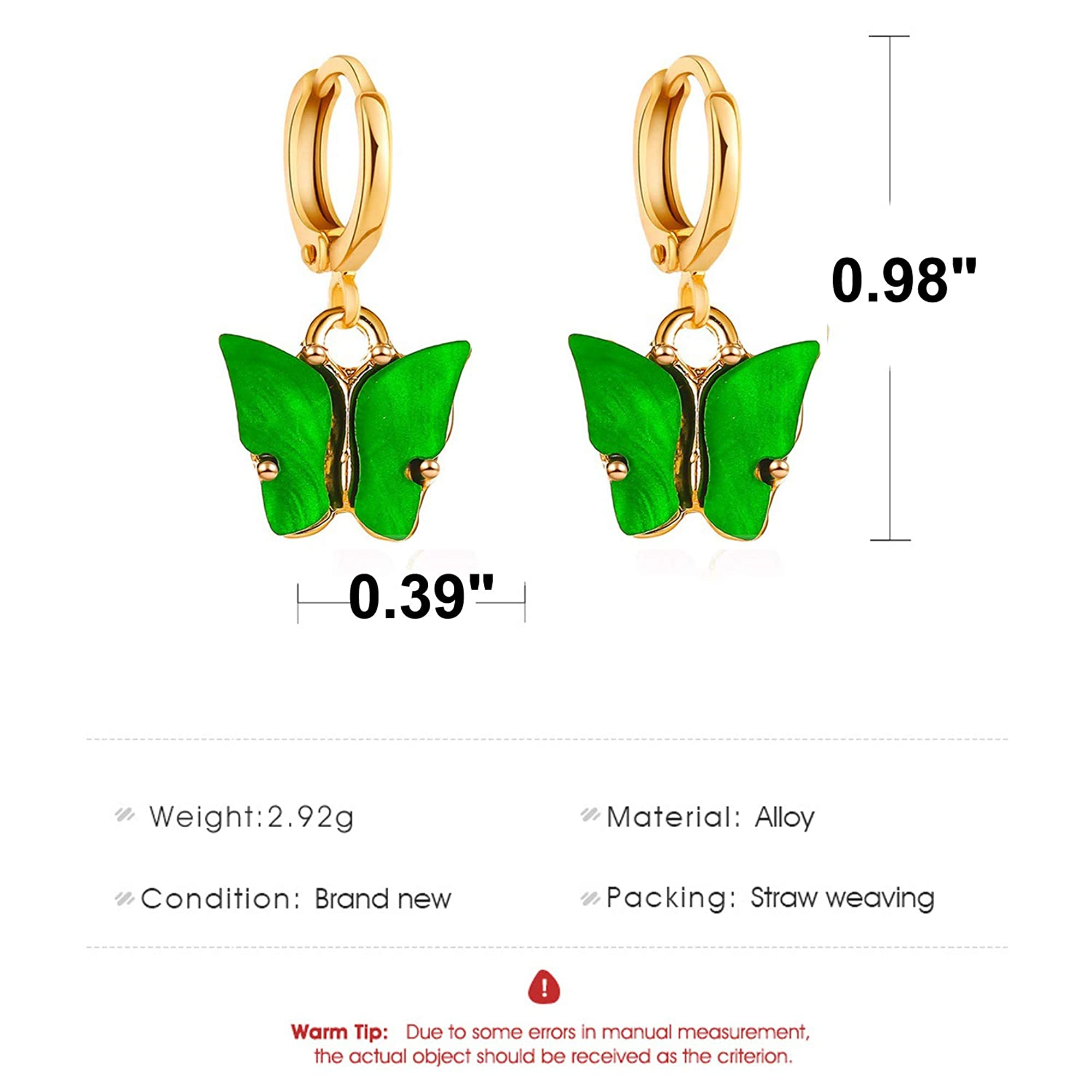 Butterfly Drop Earrings For Women