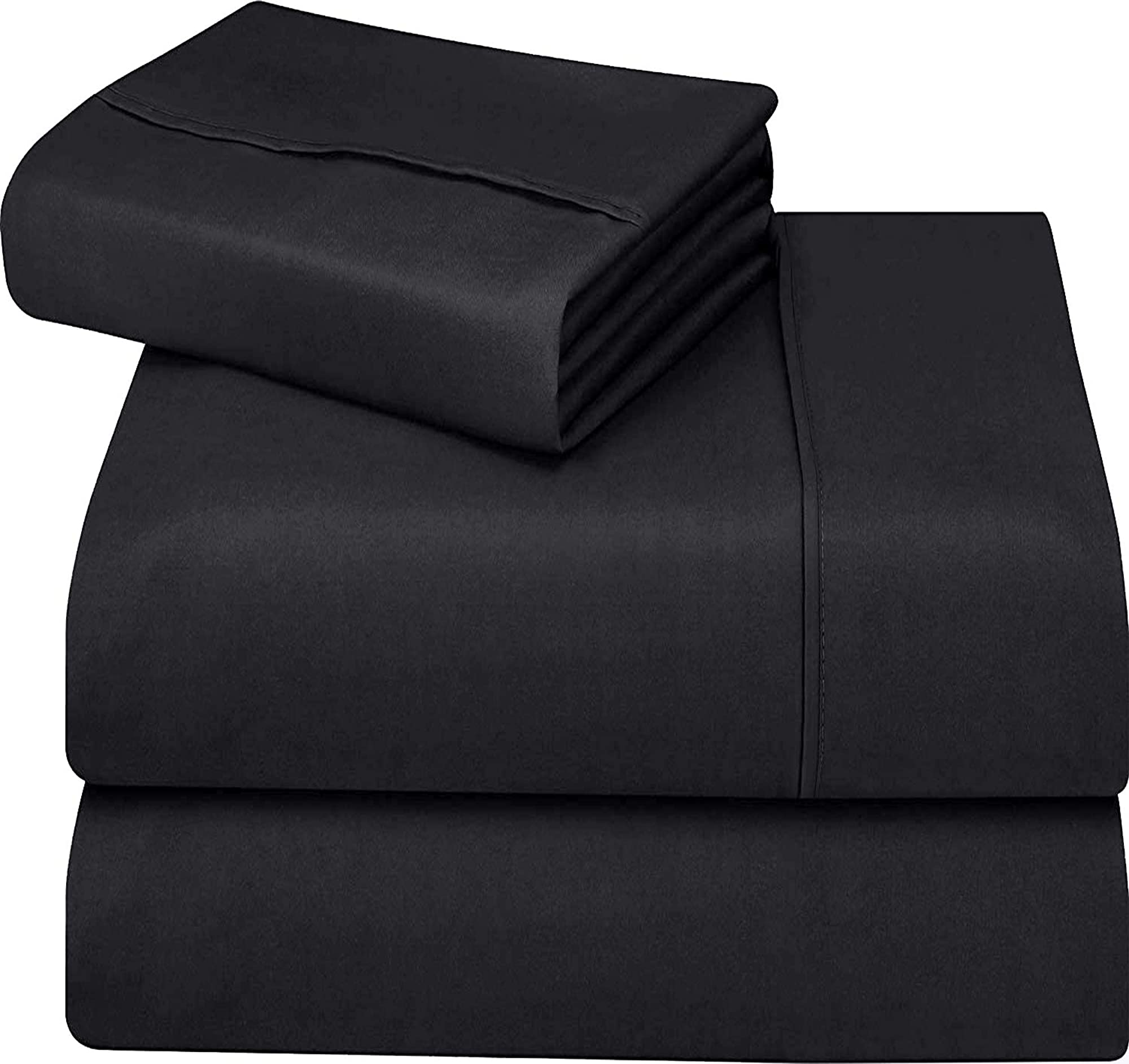 Soft Brushed Microfiber Fabric 4 Piece Bed Sheet Set