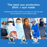 Outdoor Long Sleeve T-Shirts For Men With Neck Masks