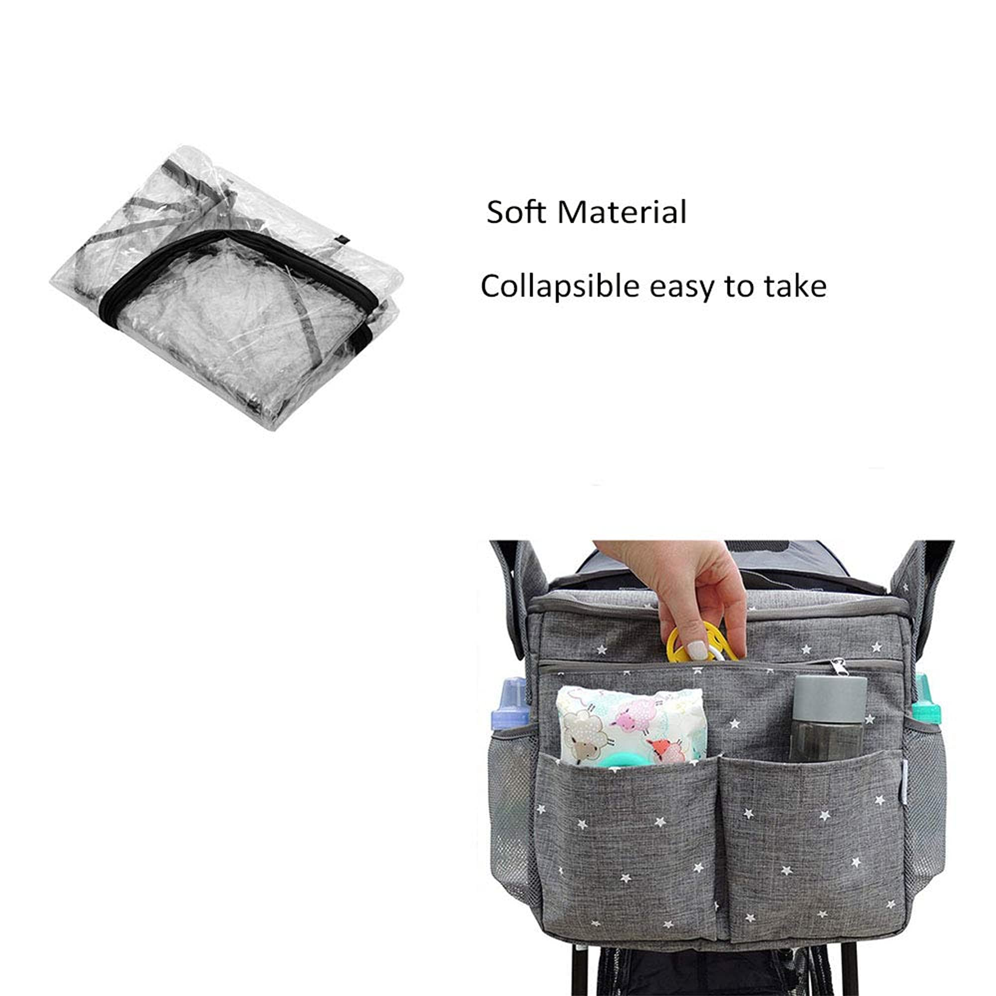 Universal Rain And Wind Cover For Strollers, Buggy, And Pram