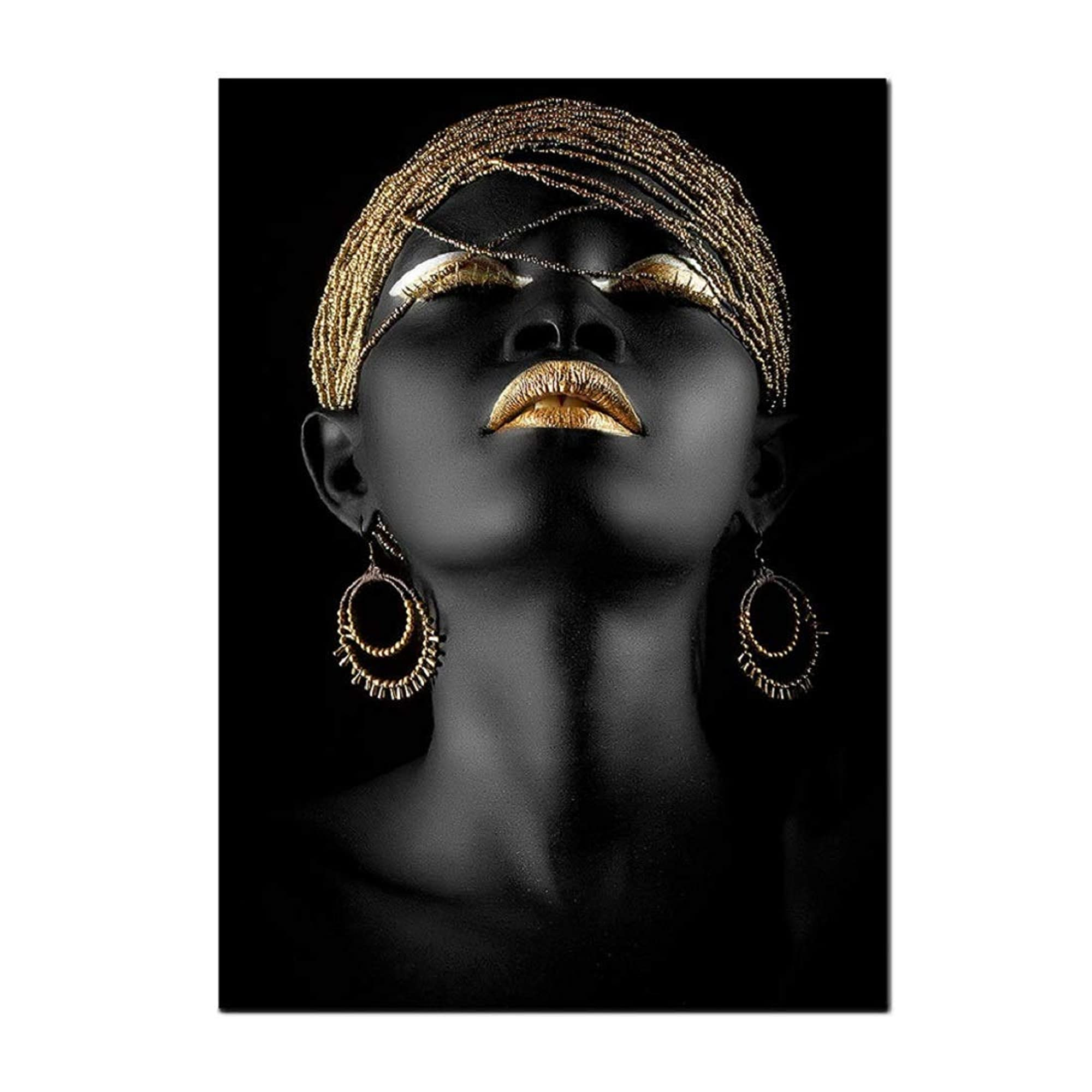 Black Woman Portrait Photography Wall Art Posters