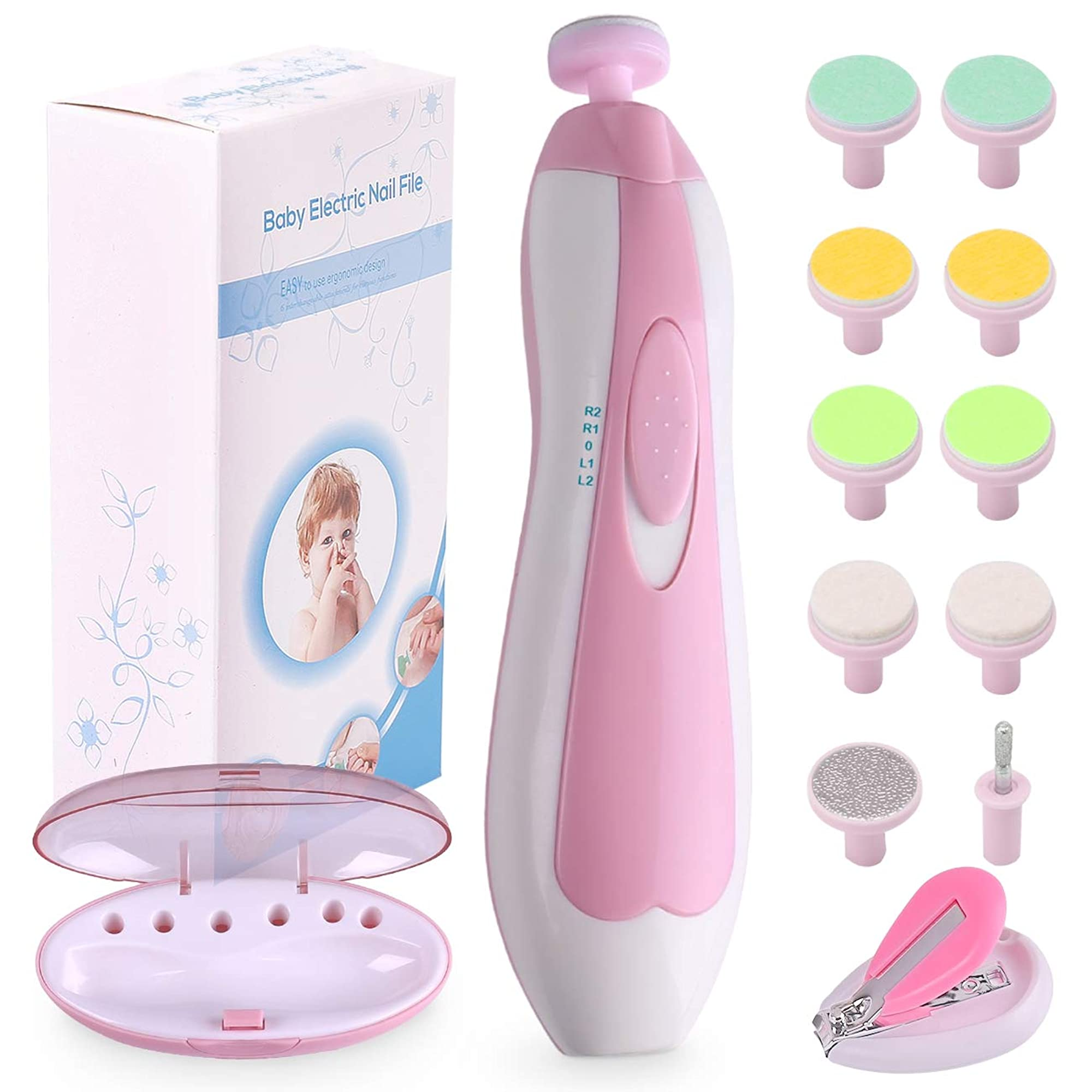 Electric Nail Trimmer Manicure Set With Nail Clippers For Babies