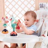 Rattle Toy With Suction, Infant Grab, And Spin Highchair Animal Toys