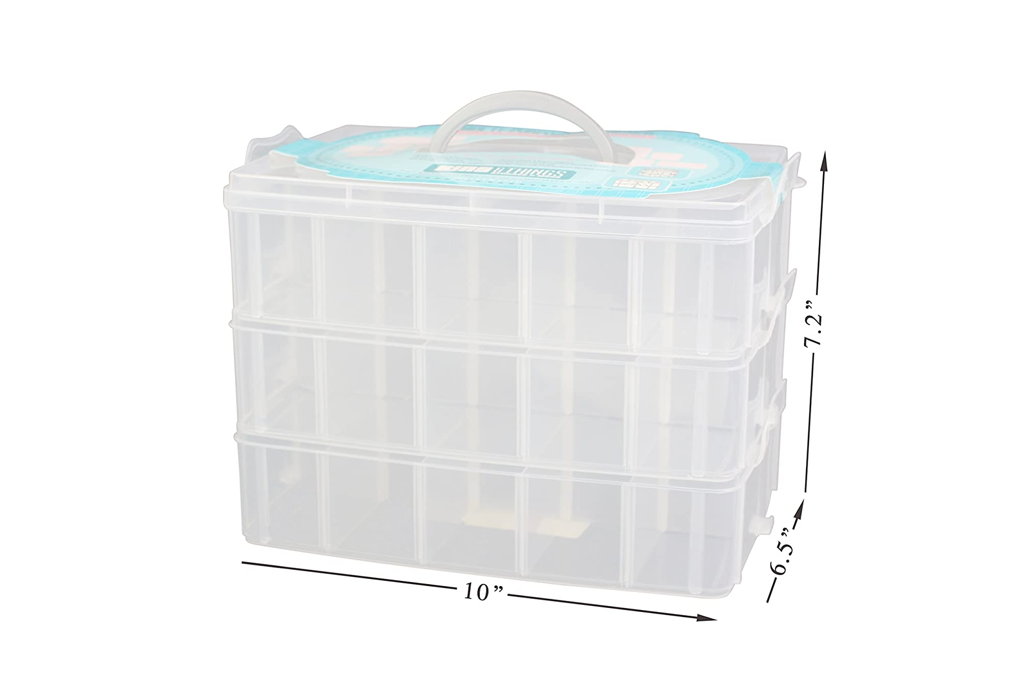 Multipurpose Storage Organizer With Adjustable Compartments