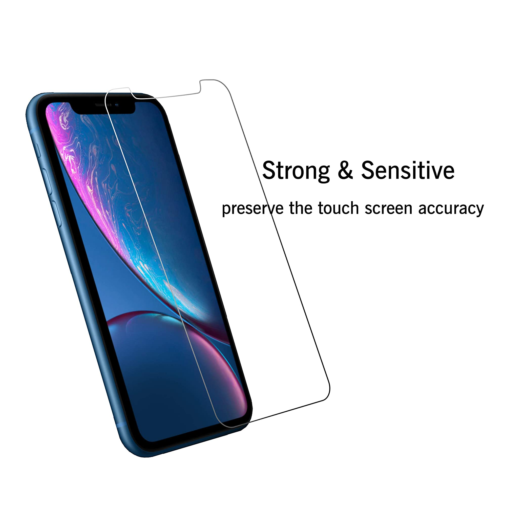 3 Pack Glass Screen Protector For Iphone 11/Iphone Xr 6.1 Inch.