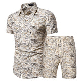 Casual Shirt And Shorts Set For Men