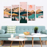 Mountain Canvas Prints Wall Art 5 Pieces
