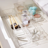 Clear Plastic Vanity And Desk Drawer Organizers