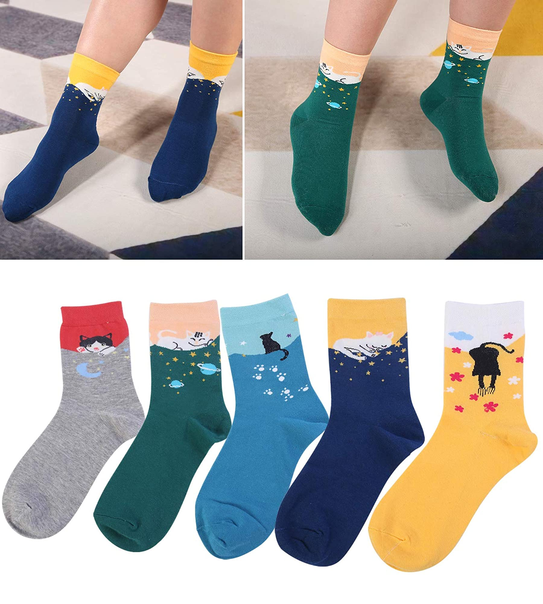 Women's Funny Funky Design Novelty Socks