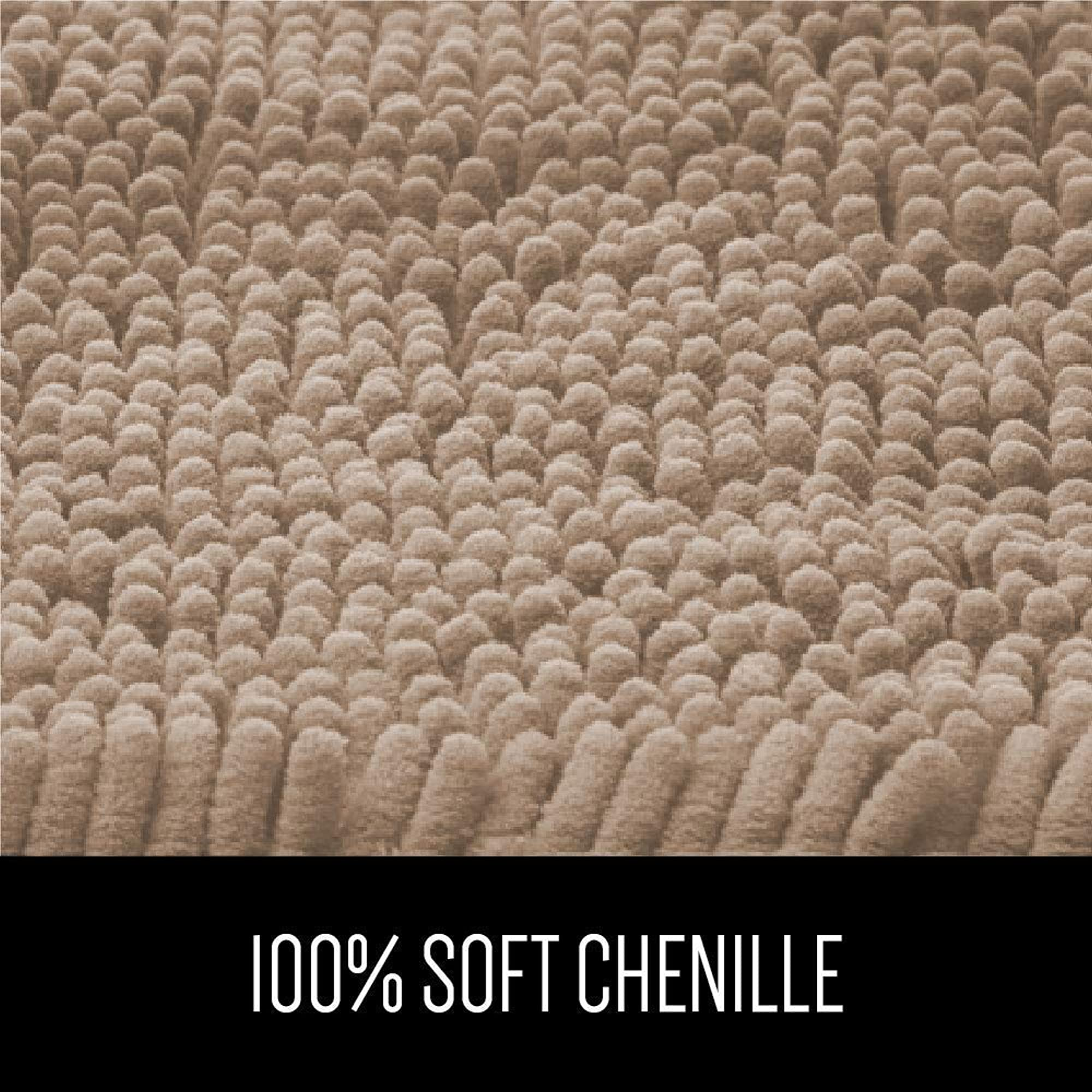 Luxury Chenille, Extra Soft, And Absorbent Large Shaggy Bathroom Rugs