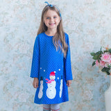 Casual Cartoon Appliques Jersey Dress