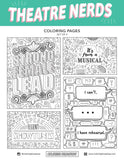 Theatre Nerds Hand Drawn Coloring Pages.