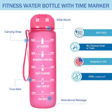 Tritan Water Bottle With Time Marker And Straw Lid