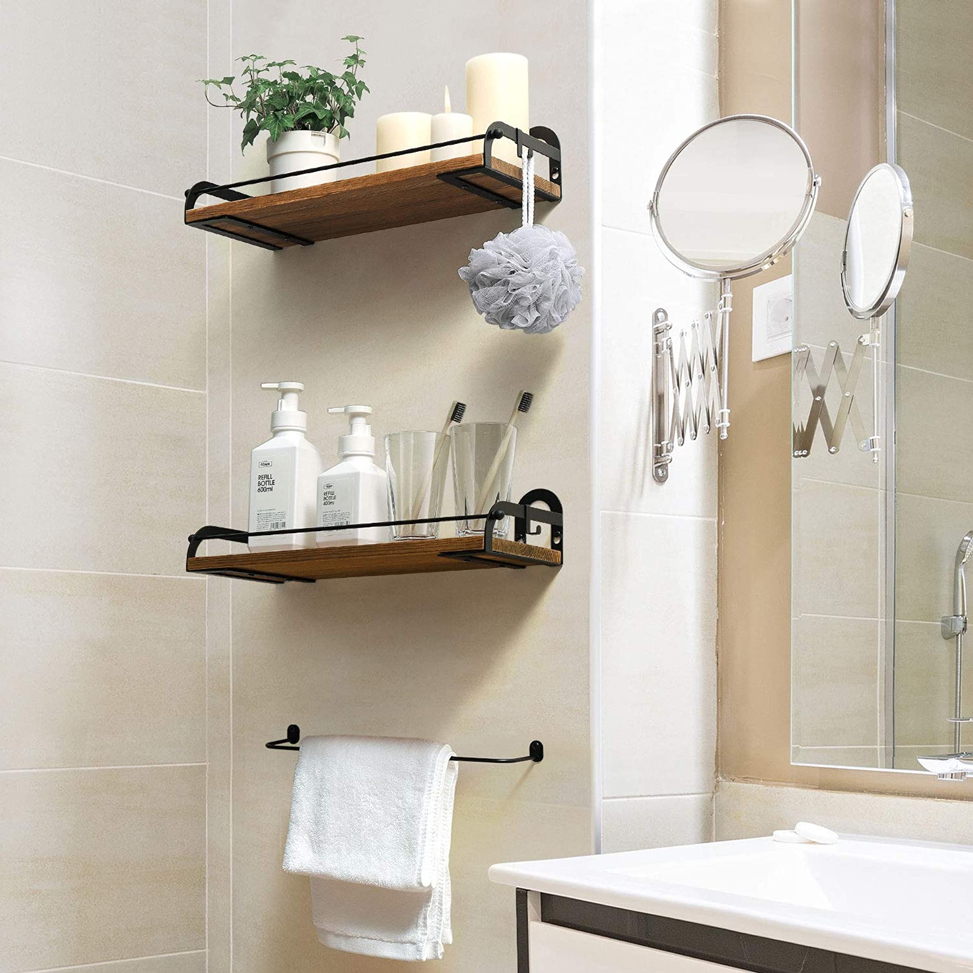 Wall Mounted Floating Shelves Set