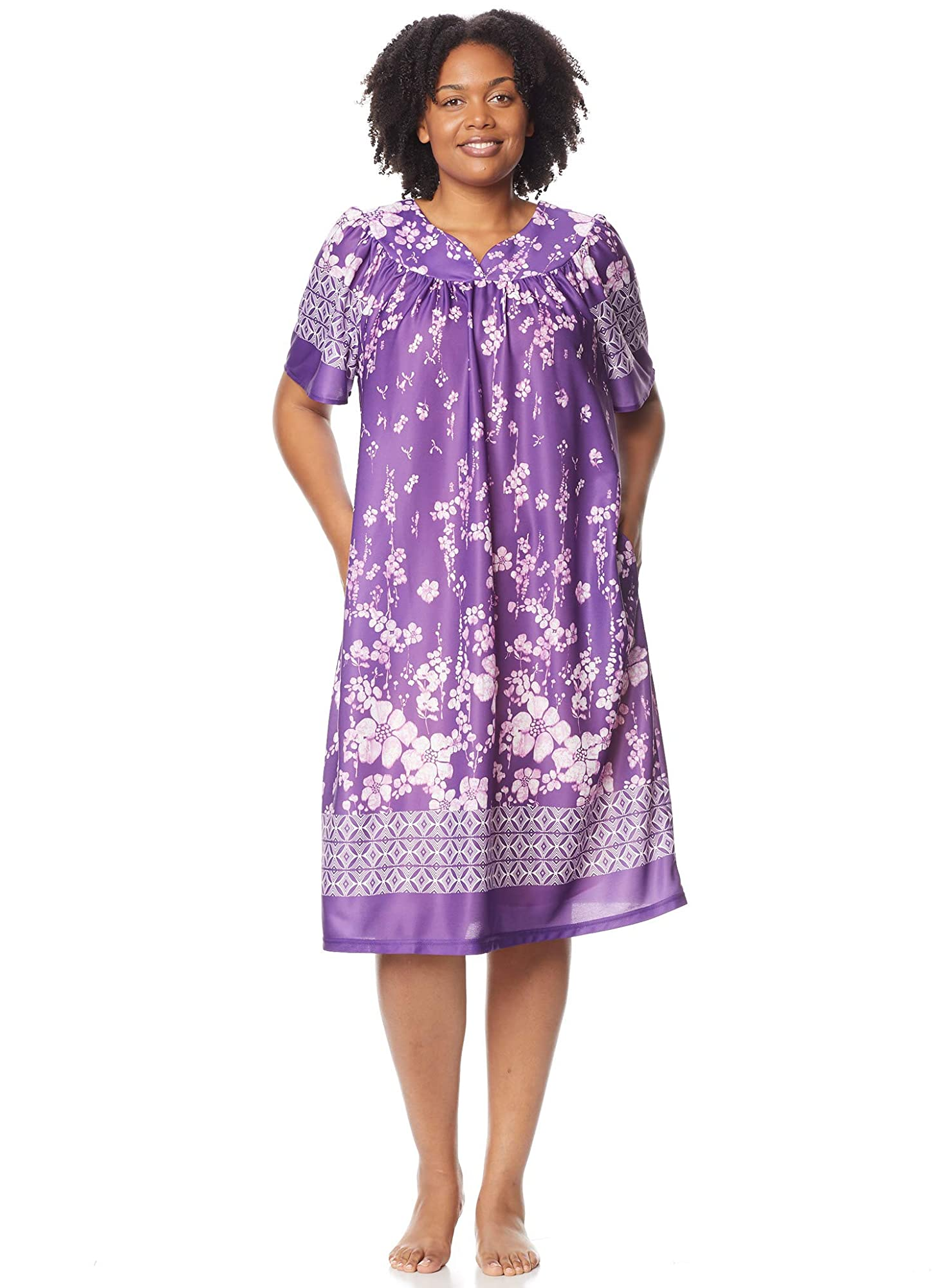 Lounger House Dress With Pockets For Women Nightgown