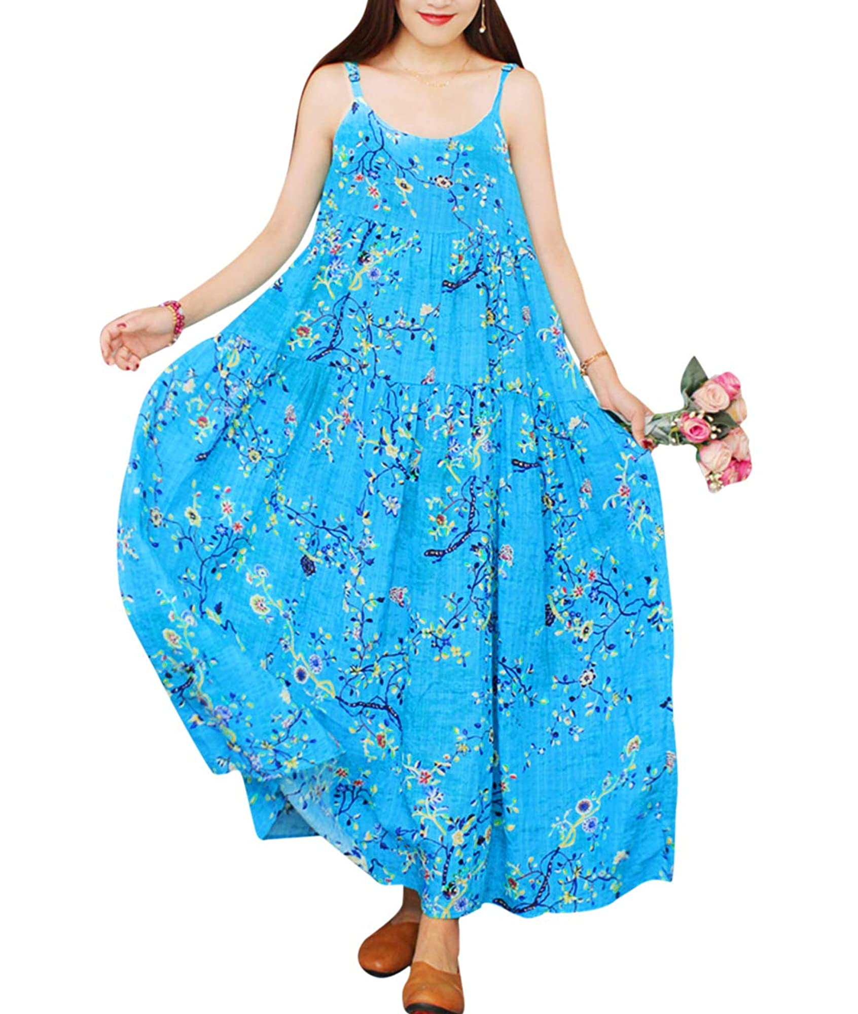 Casual Bohemian Floral Print Long Maxi Dress