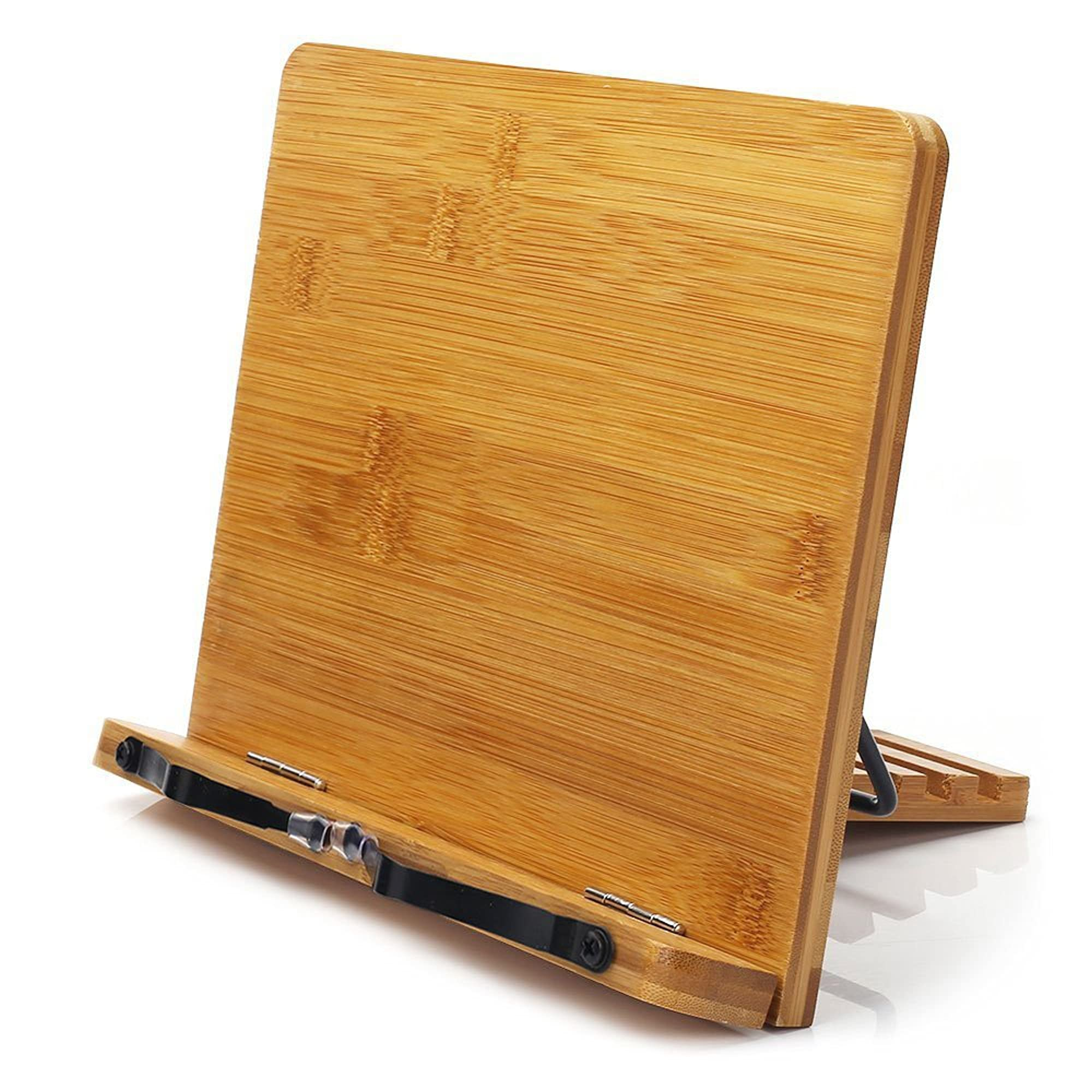 Wishacc Adjustable Bamboo Book Stand