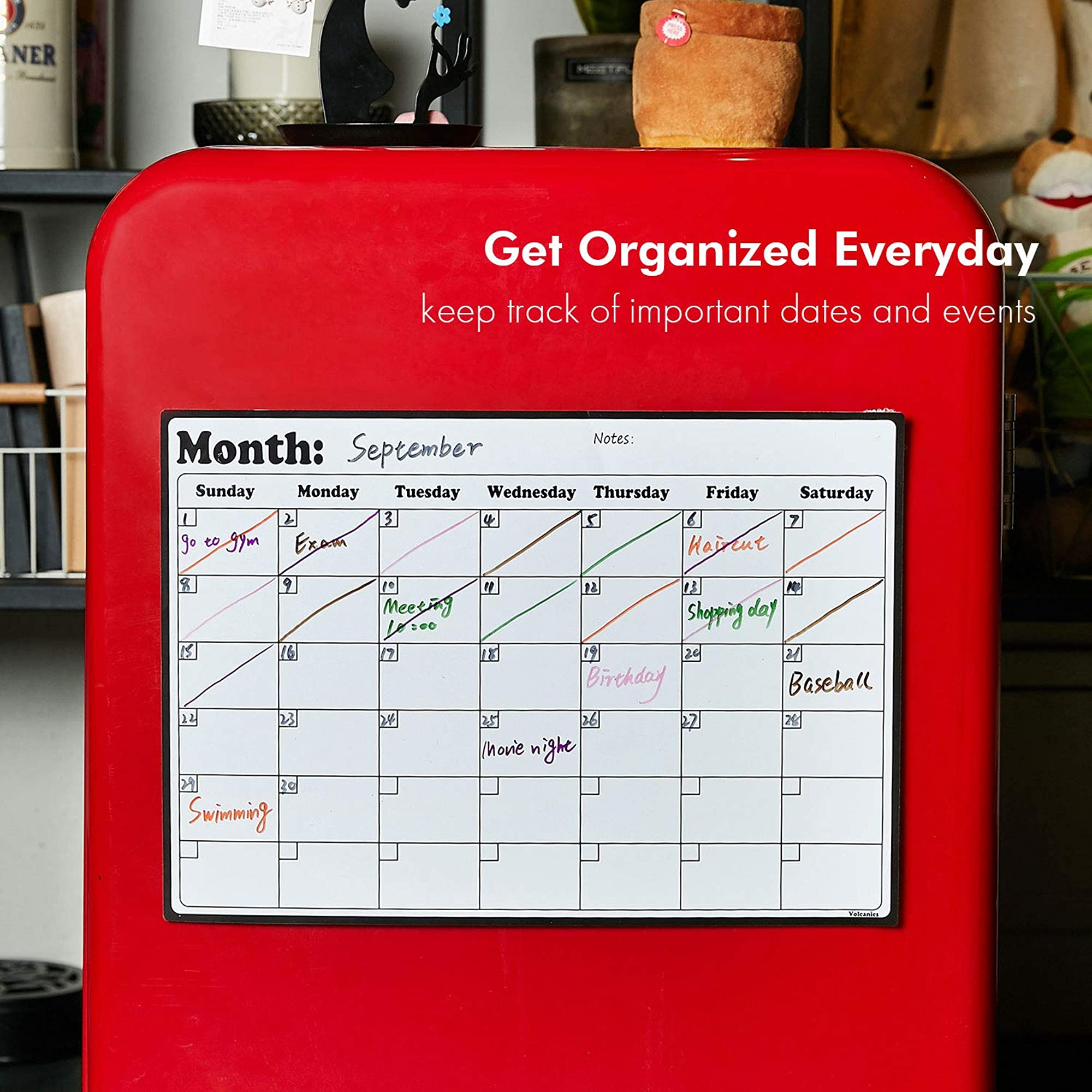 Whiteboard Calendar For Refrigerator