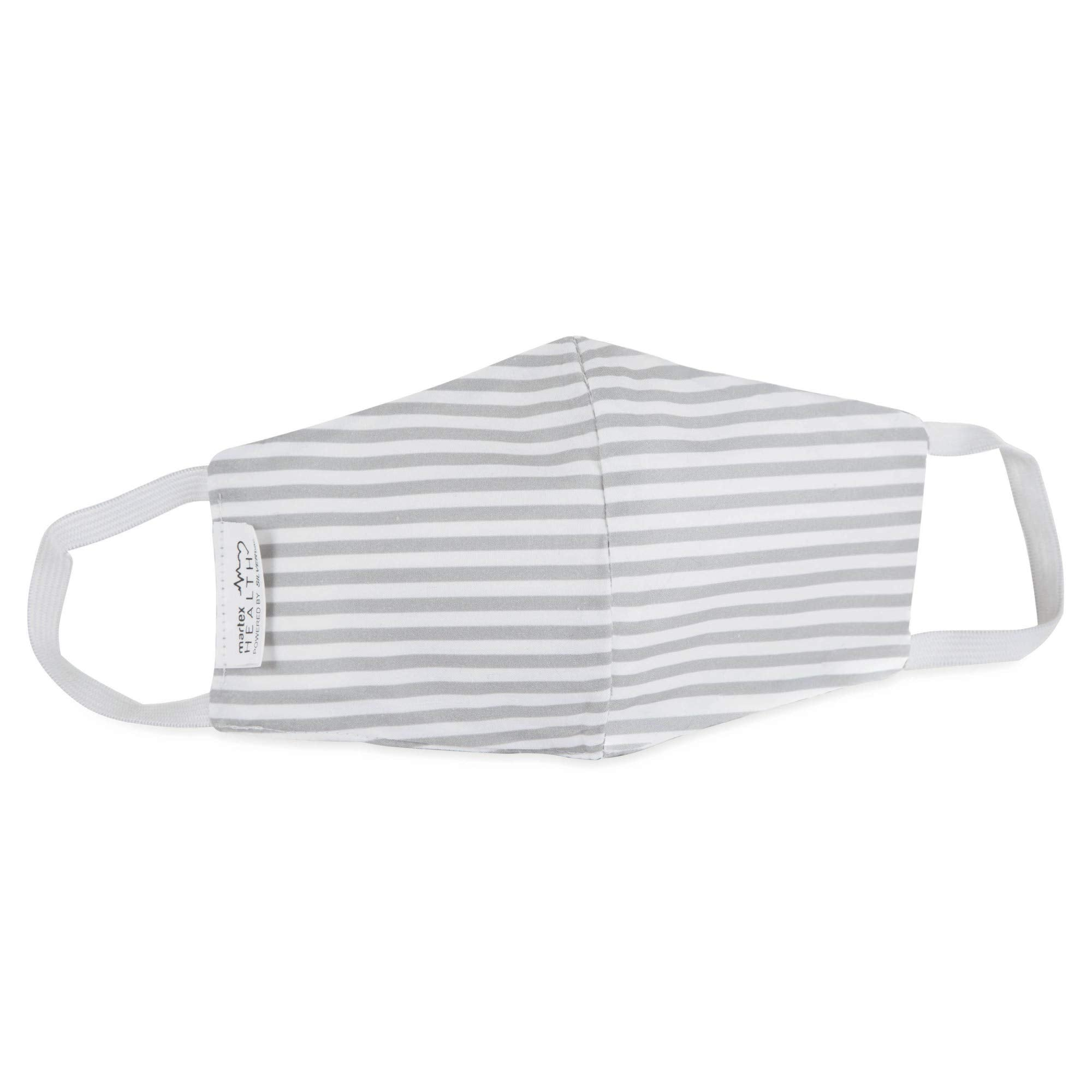 Printed Gray Stripe Standard Face Mask