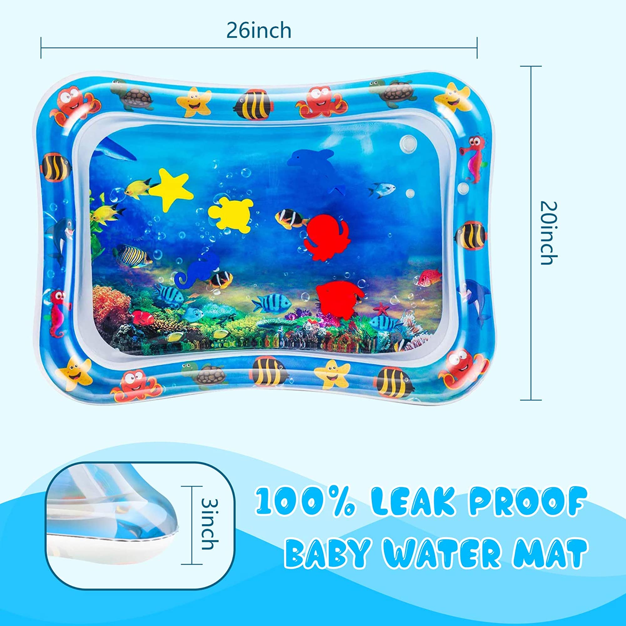 Inflatable Tummy Time Water Play Mat