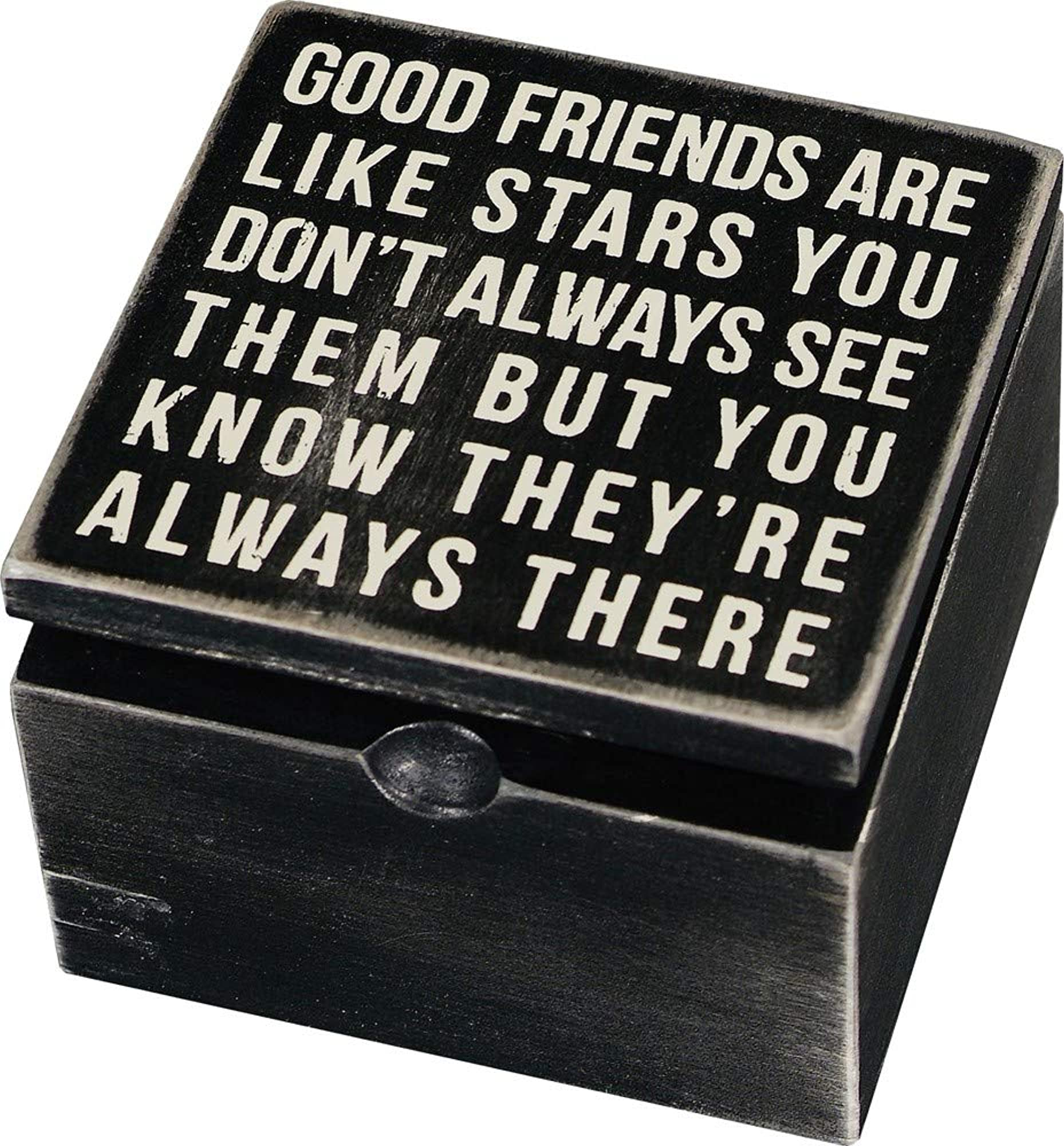 Classic Hinged Wood Box With Quotes