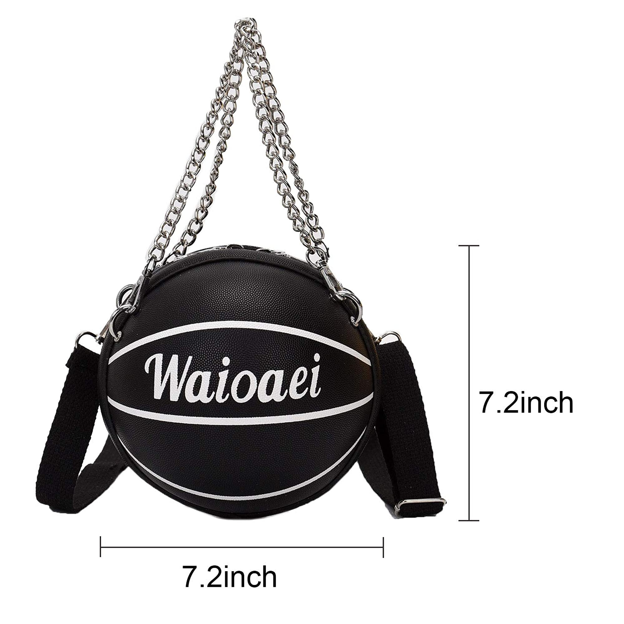 Basketball Shaped Cross Body Bag