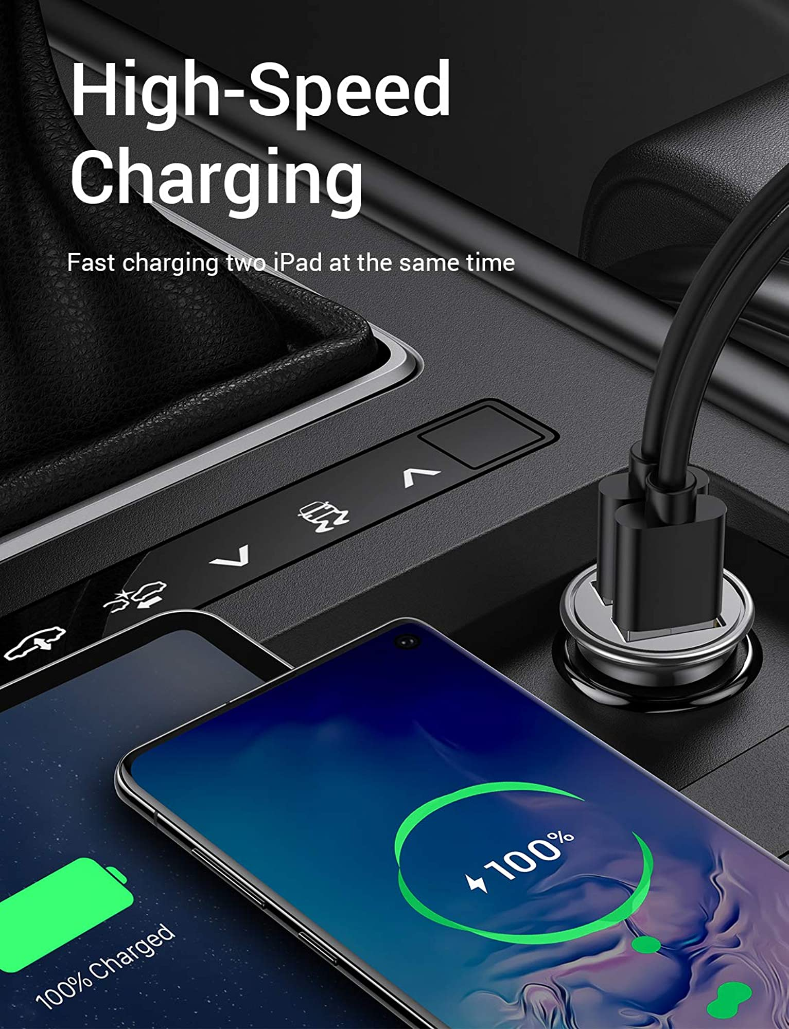 Dual Usb Port Car Charger Adapter