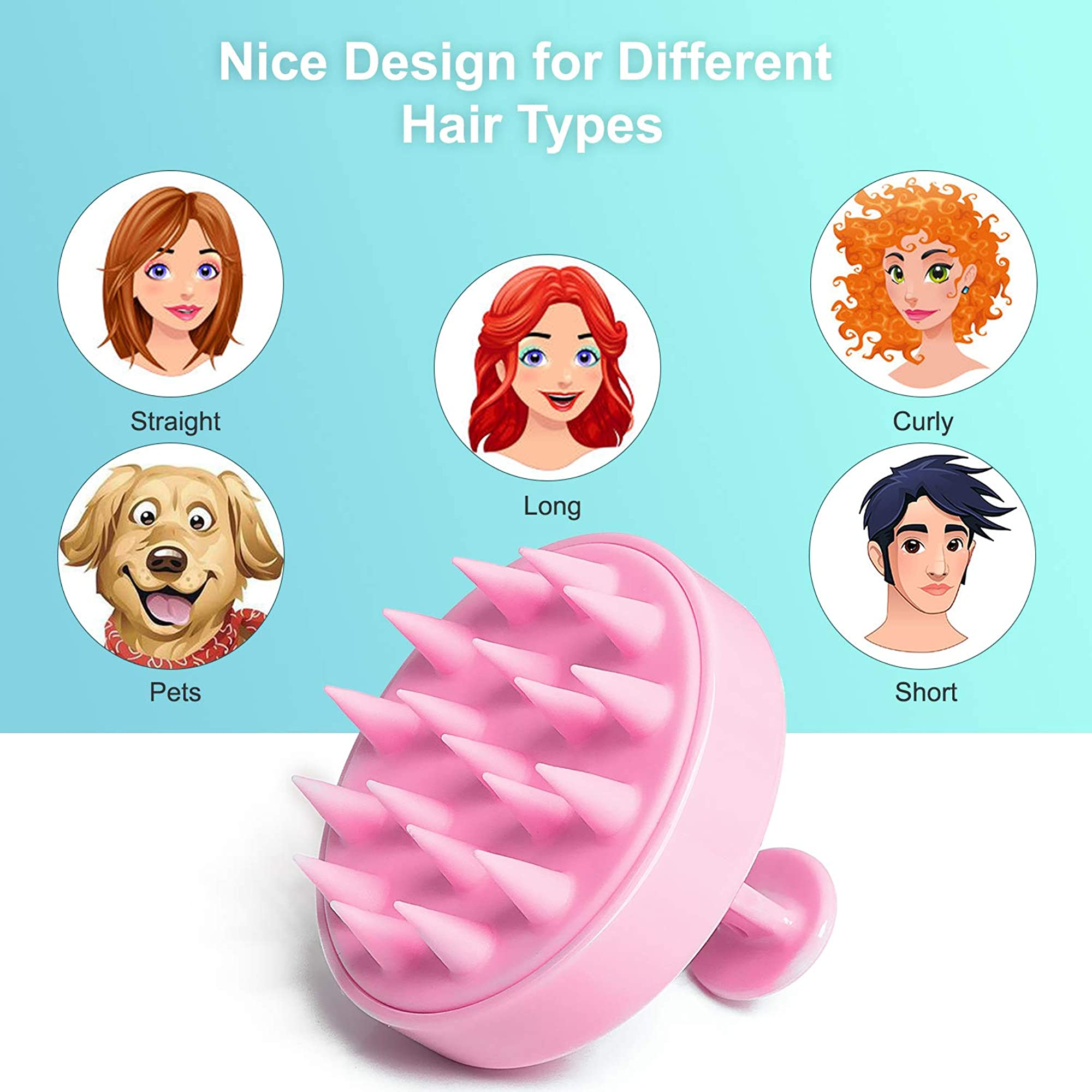 Hair Scalp Massager, Shampoo Brush