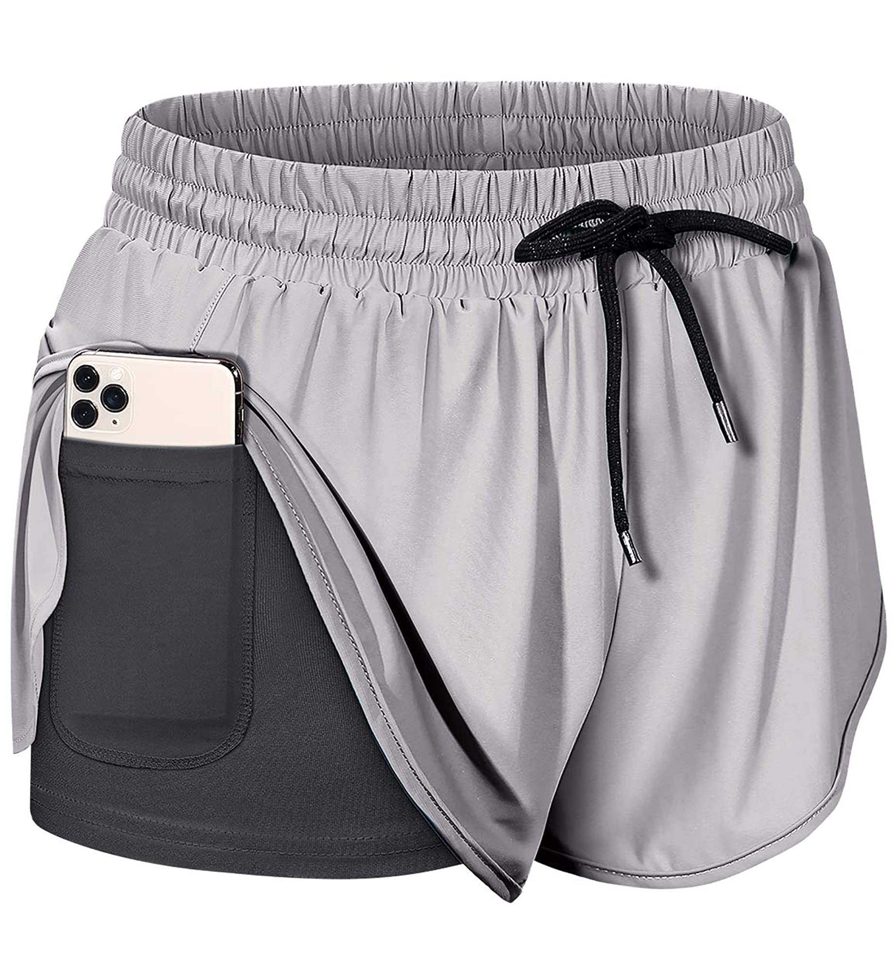 Drawstring Waist Athletic Running Shorts