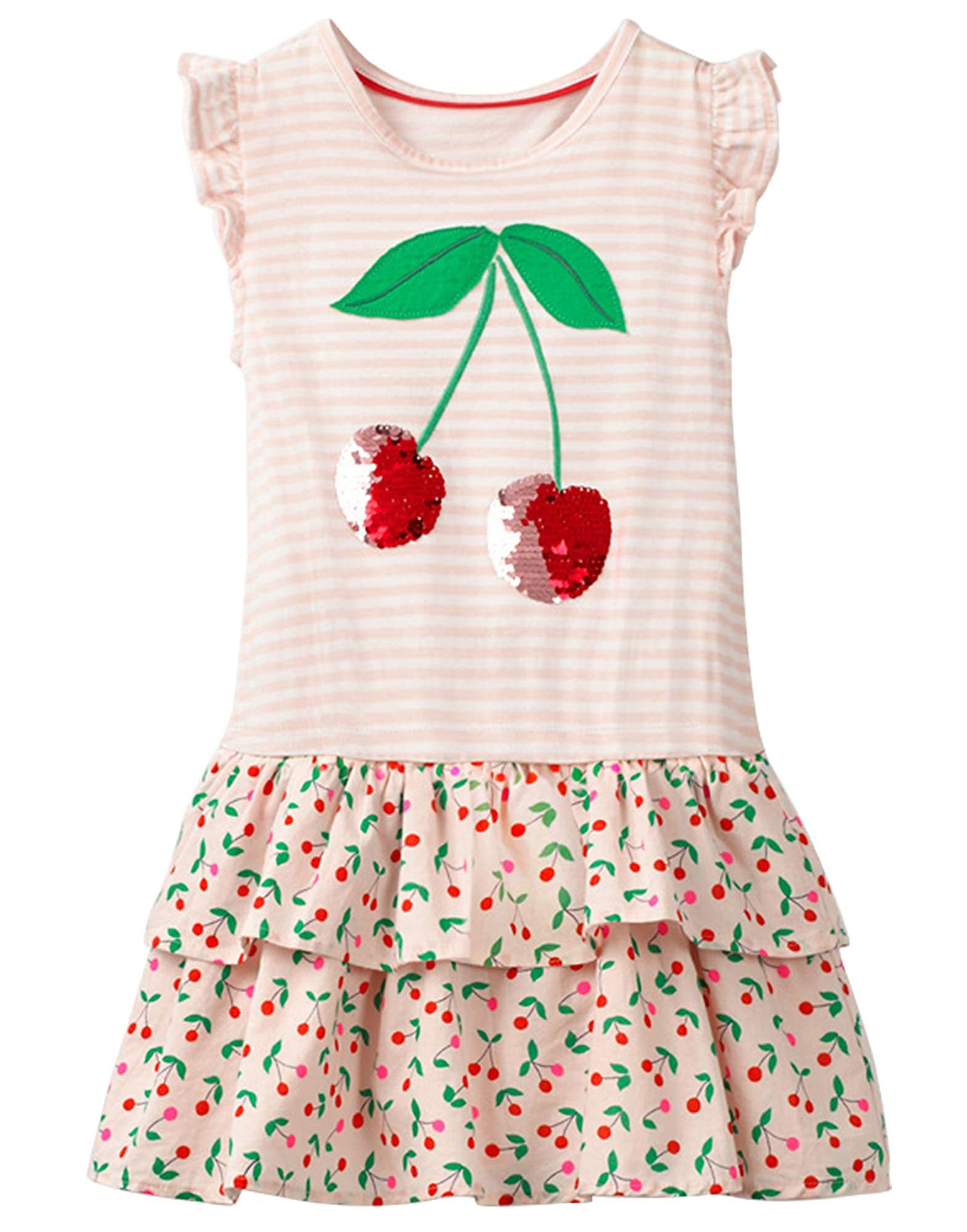 Cute Printed Cotton Dress For Girls