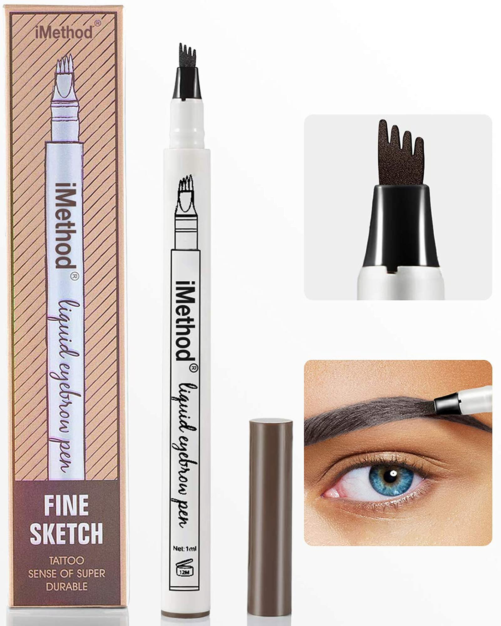 Eyebrow Pencil With Micro-Fork Tip