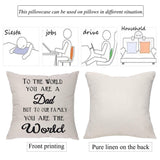 Unique Pillow Covers For World'S Best Dad