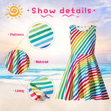 Casual Printed Party Sundress For Girls