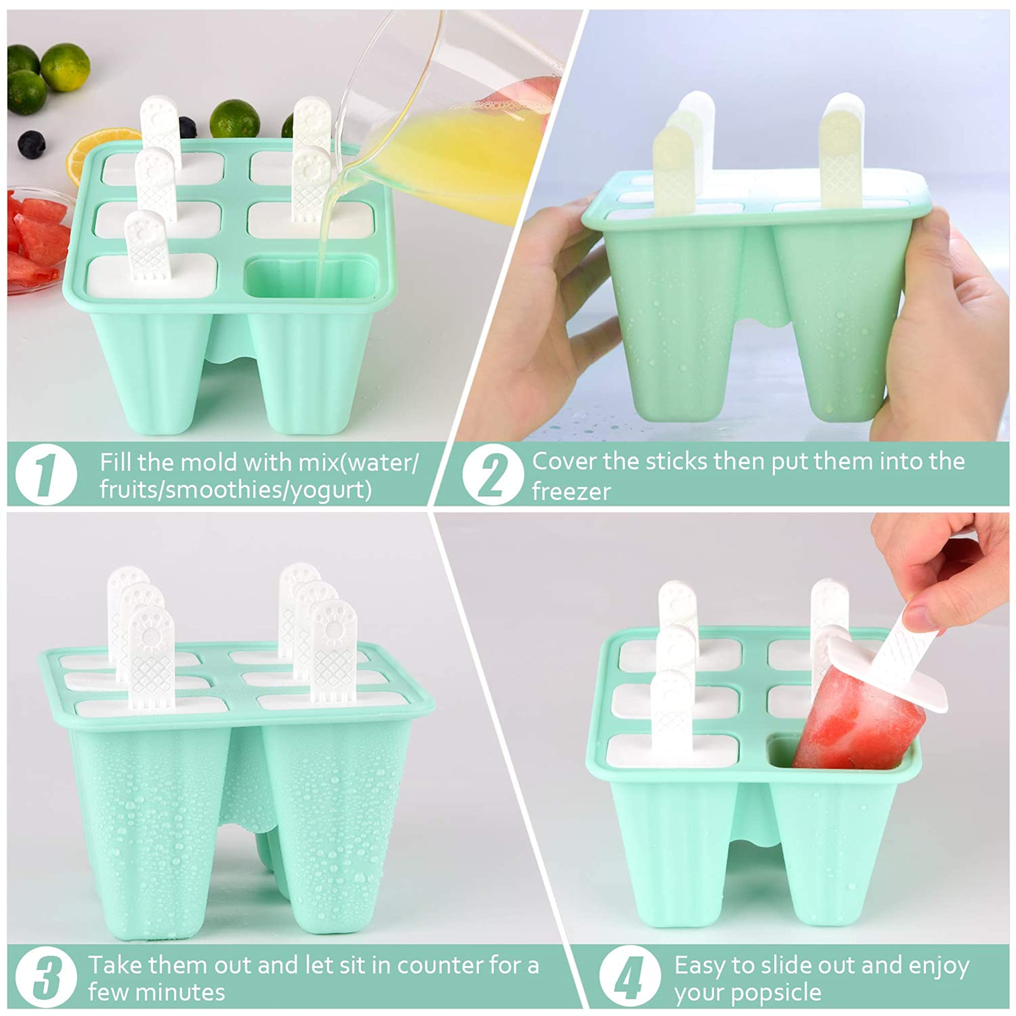 Silicone Ice Popsicle Reusable Mold