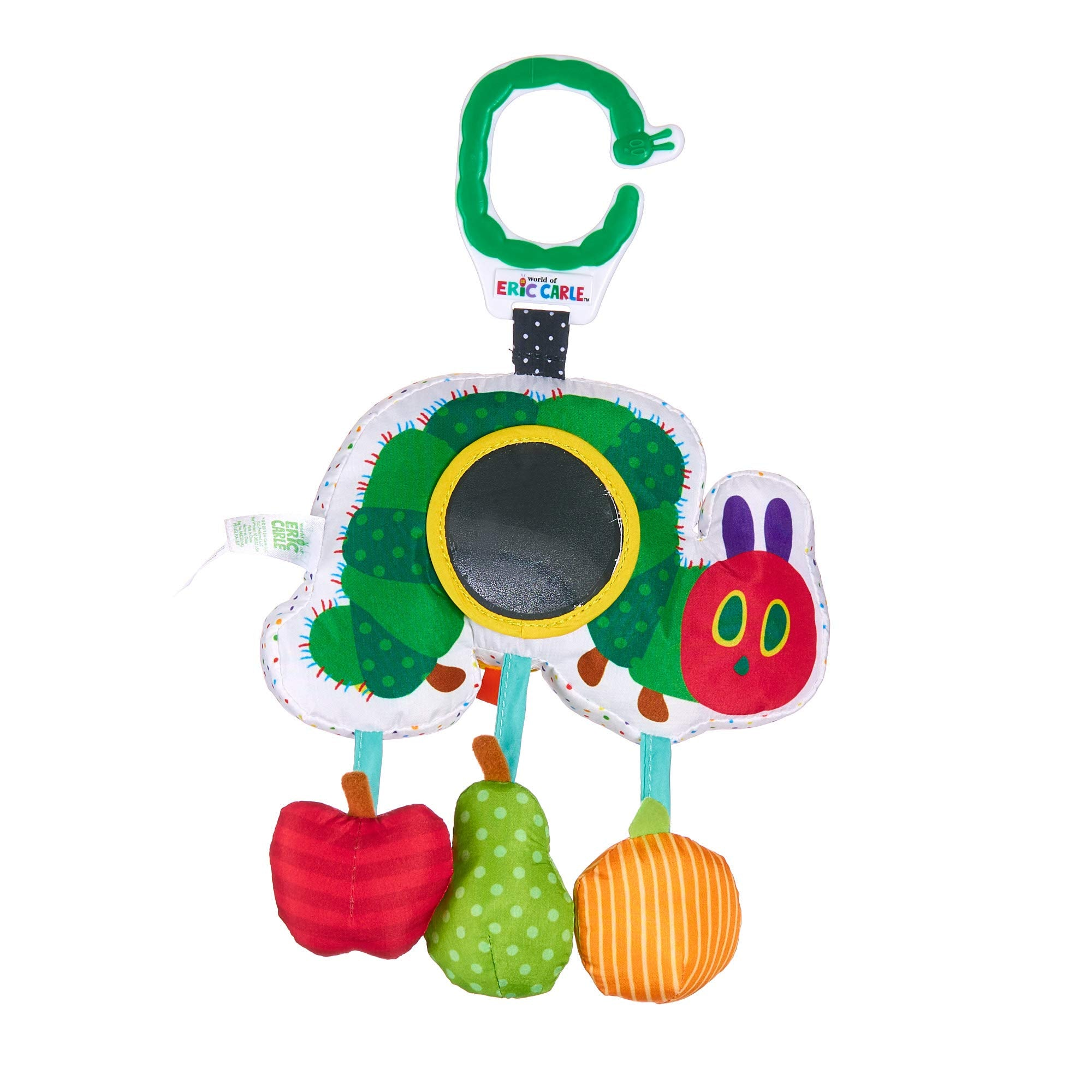 Caterpillar Rattle Squeak Mirror Activity Toy For Babies