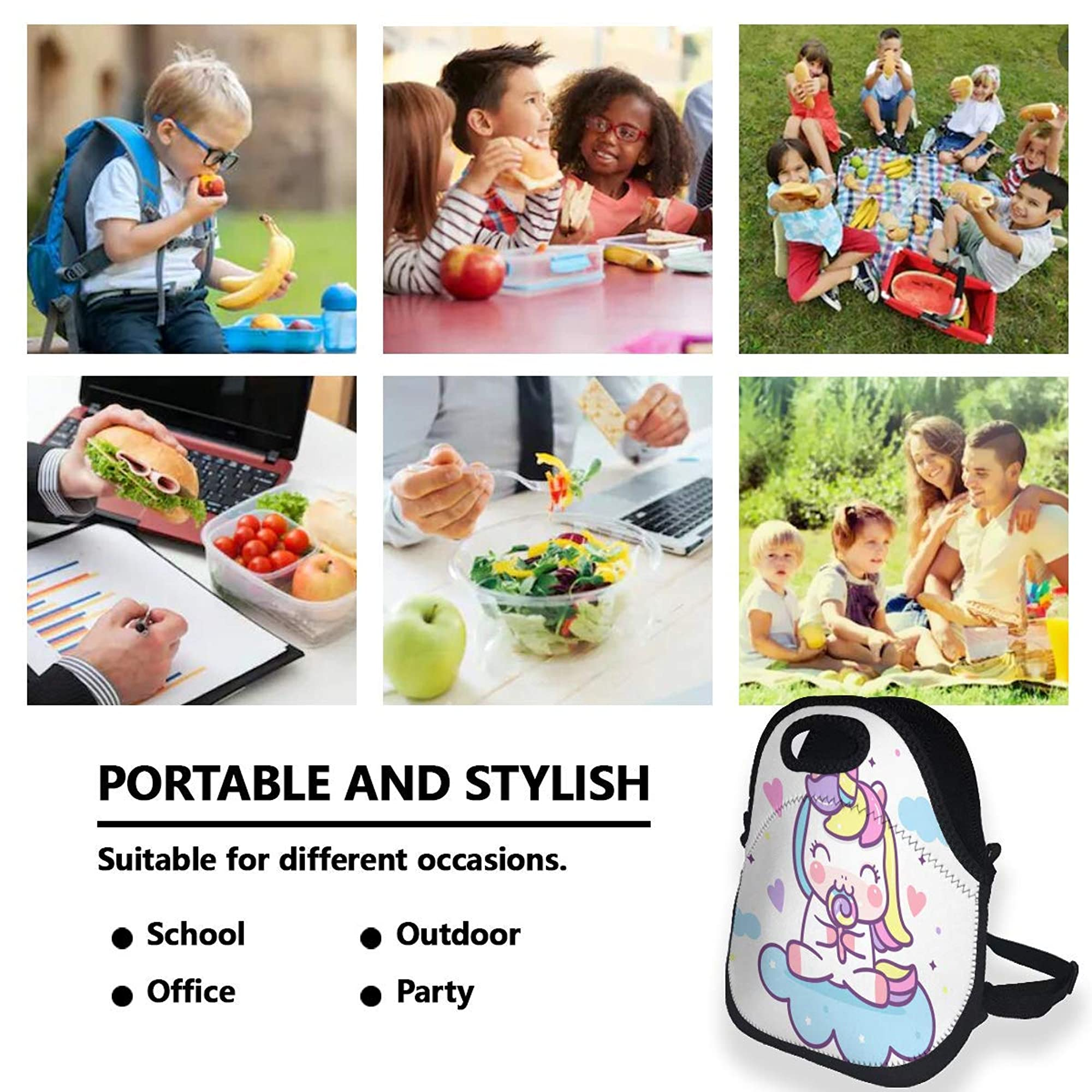 Portable Insulated Lunch Tote Bags