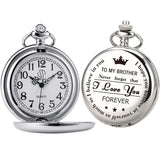Personalized Pocket Watch For Brothers