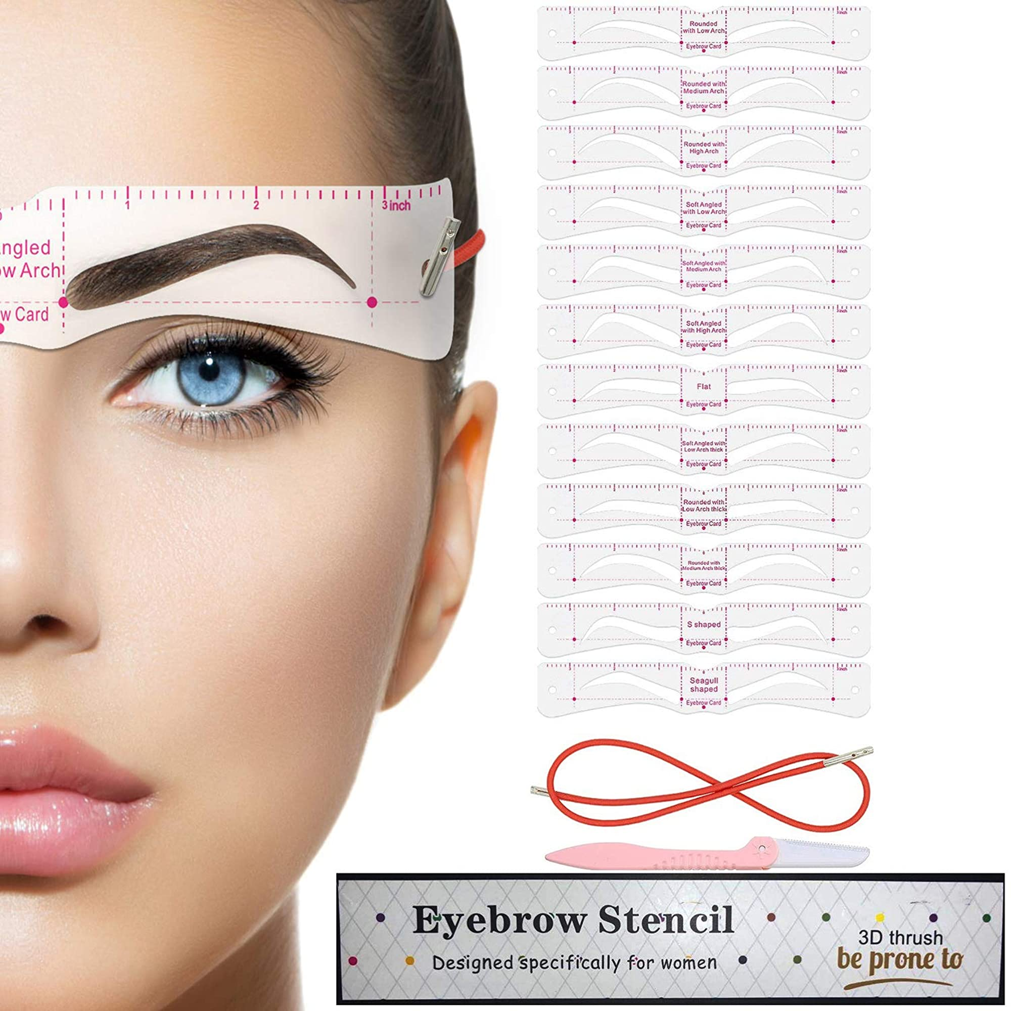Eyebrow Template With Strap And Shaper Kit