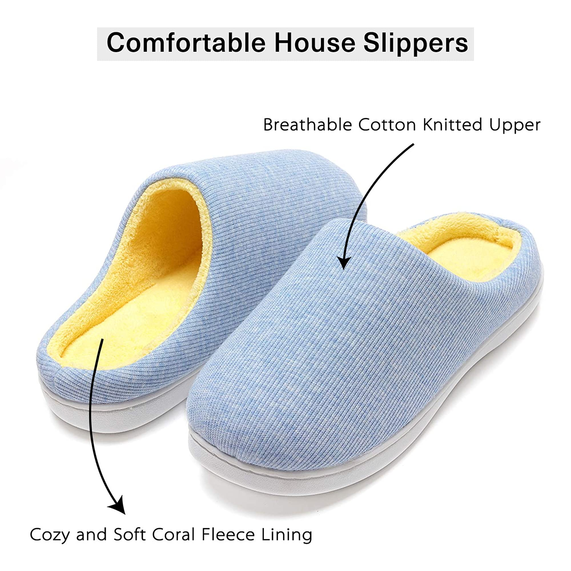Indoor Non-Slip Fuzzy Slippers