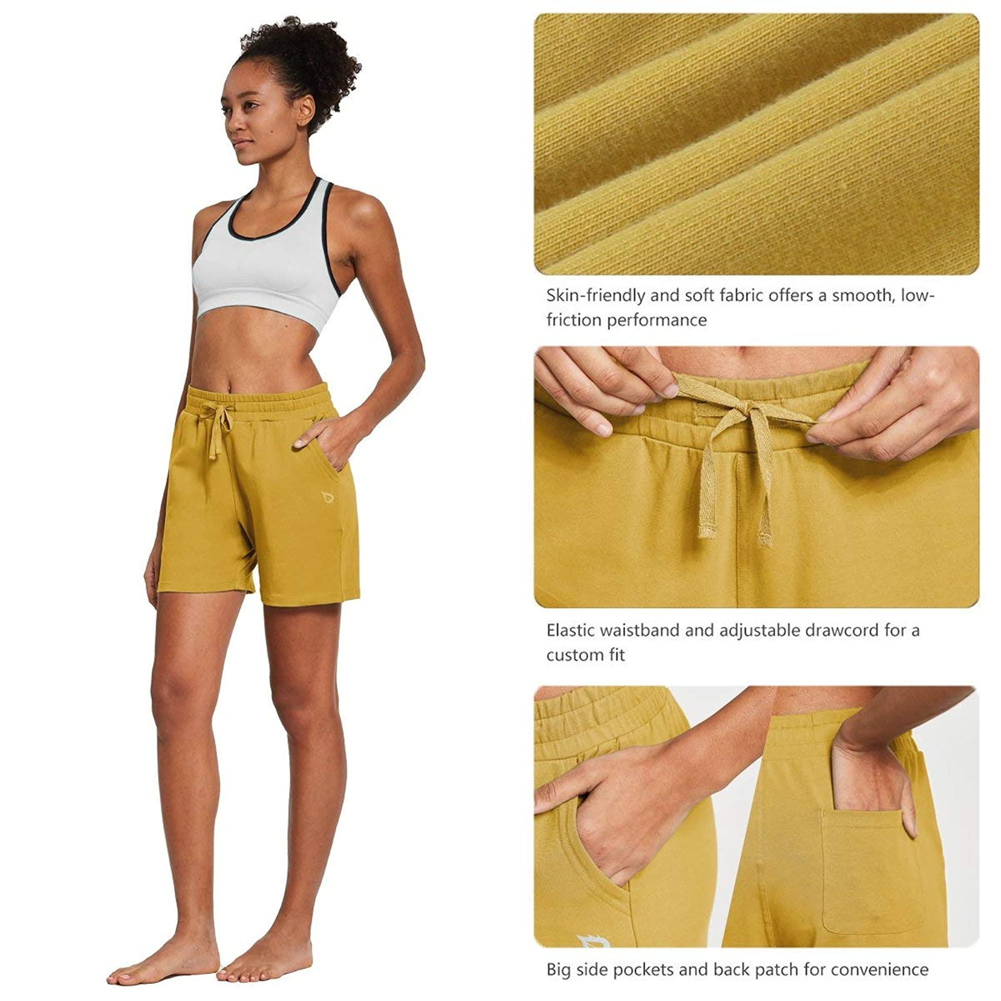 Casual Activewear Shorts With Pockets
