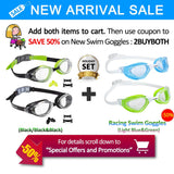 Anti Fog Swim Goggles With Clear Lens - Pack Of 2